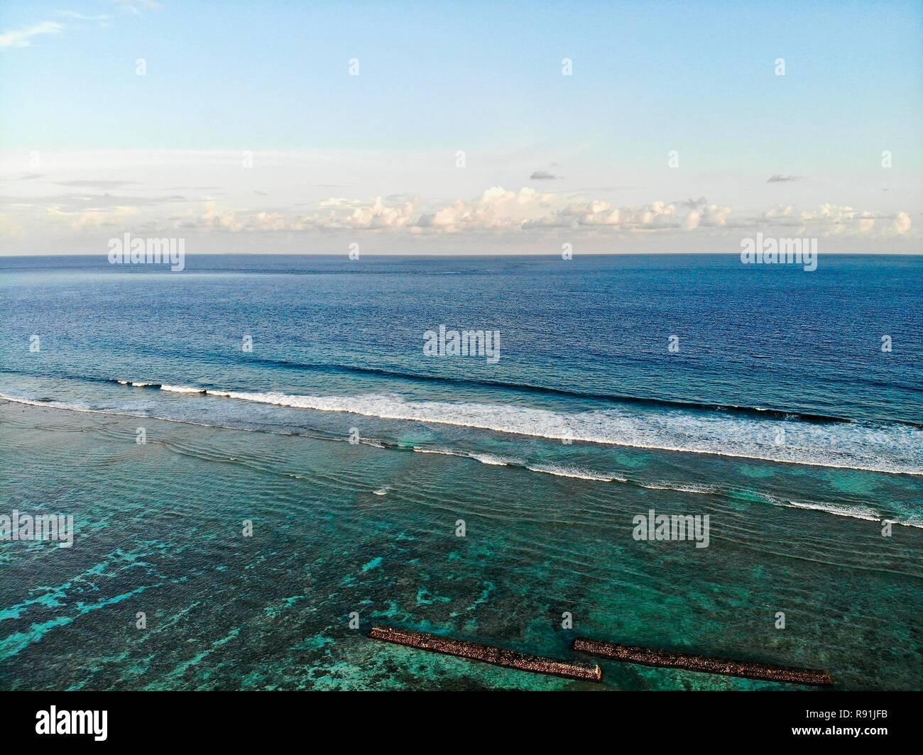 Reef Maldives Stock Photo