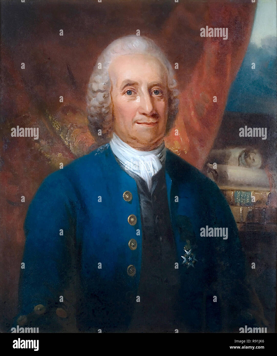 Emanuel Swedenborg (1688 – 1772) Swedish scientist and Lutheran theologian - Stock Image