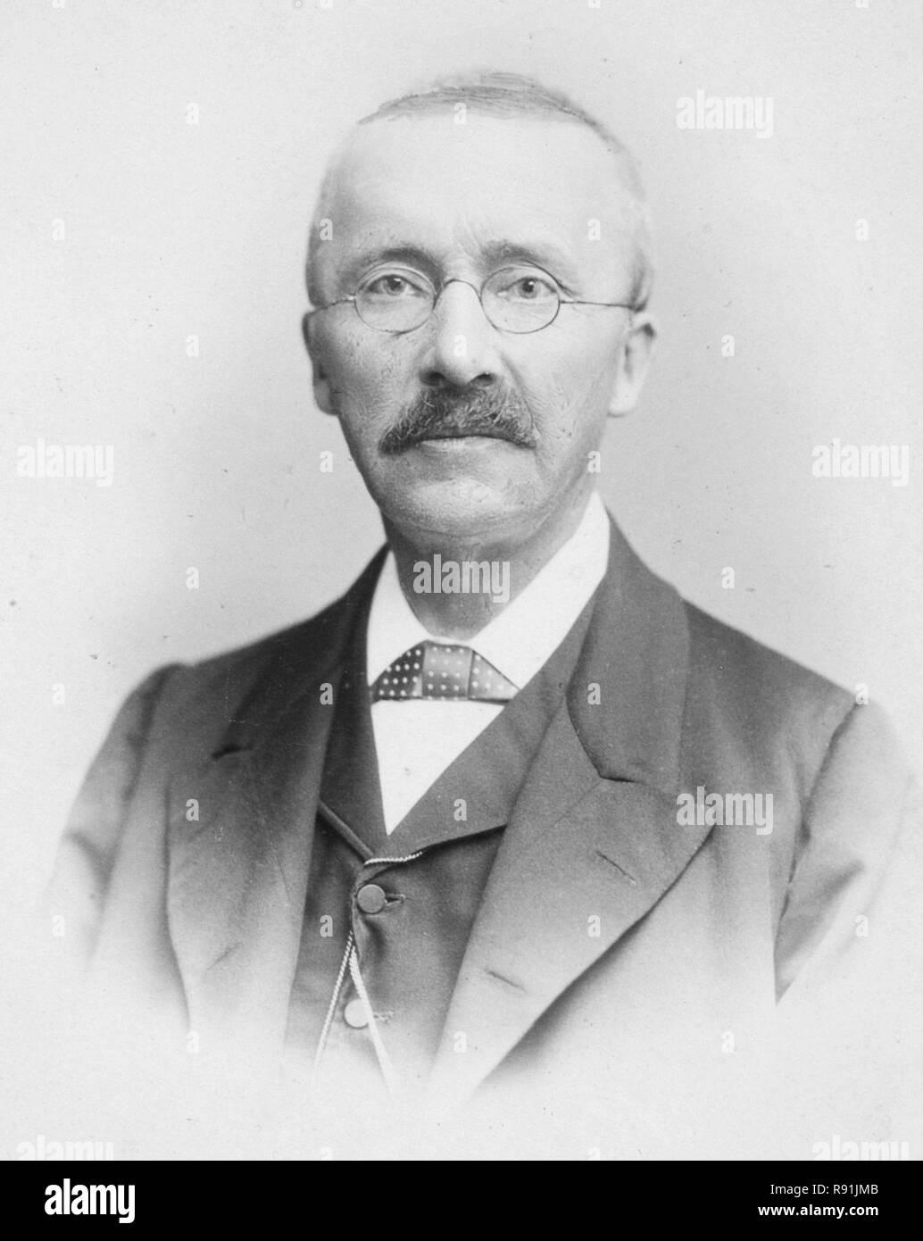 Heinrich Schliemann (1822 – 1890) German archaeology pioneer - Stock Image