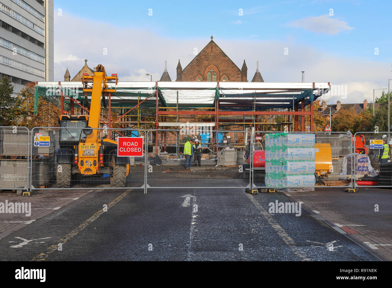 A New Costa Coffee Shop Under Construction At The Great