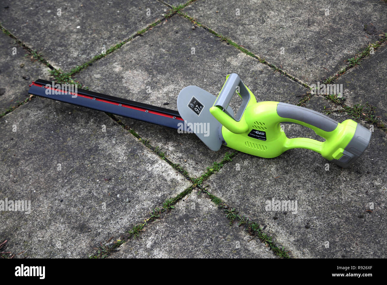 Garden Gear Cordless Hedge Trimmer - Stock Image