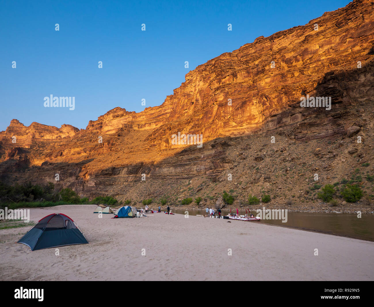 Little Rock House campsite, Desolation Canyon north of Green River, Utah. - Stock Image