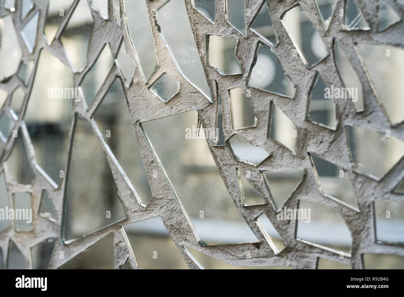 Wall With Glass Shards Stock Photos & Wall With Glass Shards Stock