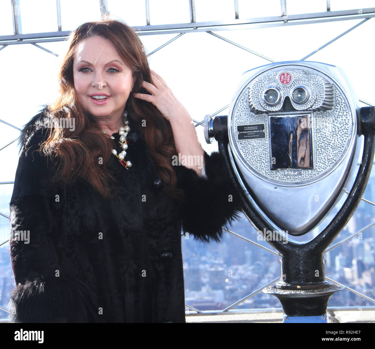 New York, NY, USA  18th Dec, 2018  Sarah Brightman visits the Empire