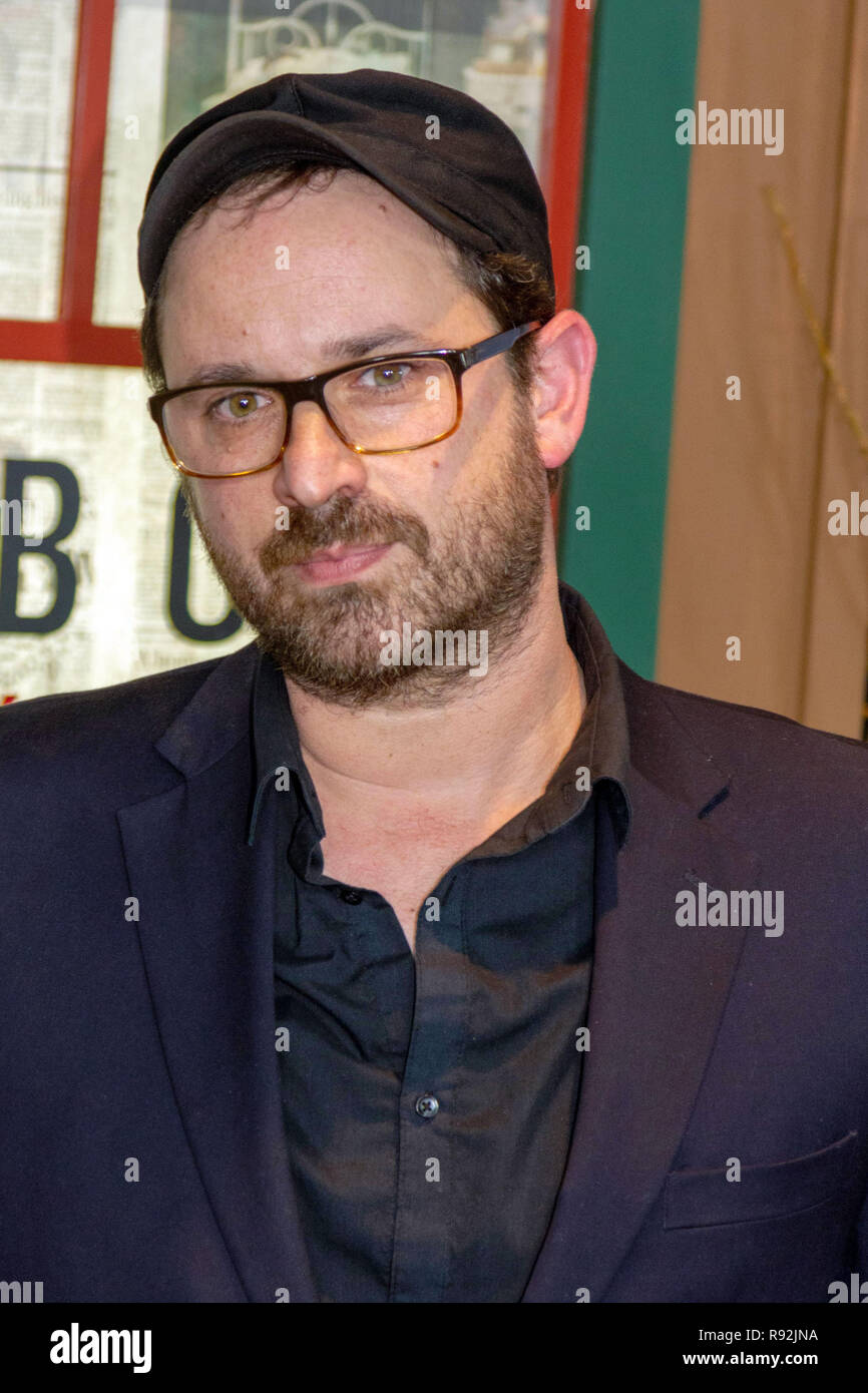 "New York, USA. 17th Dec, 2018. Writer Josh Malerman attends the Netflix special screening of ""Bird Box"" at Alice Tully Hall in New York City on December 17, 2018. Credit: Jeremy Burke/Alamy Live News Stock Photo"