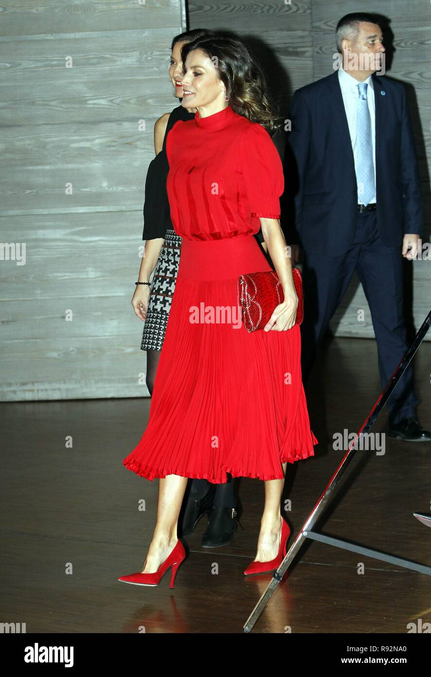 Madrid, Spain  19th December, 2018  Spanish Queen Letizia Ortiz