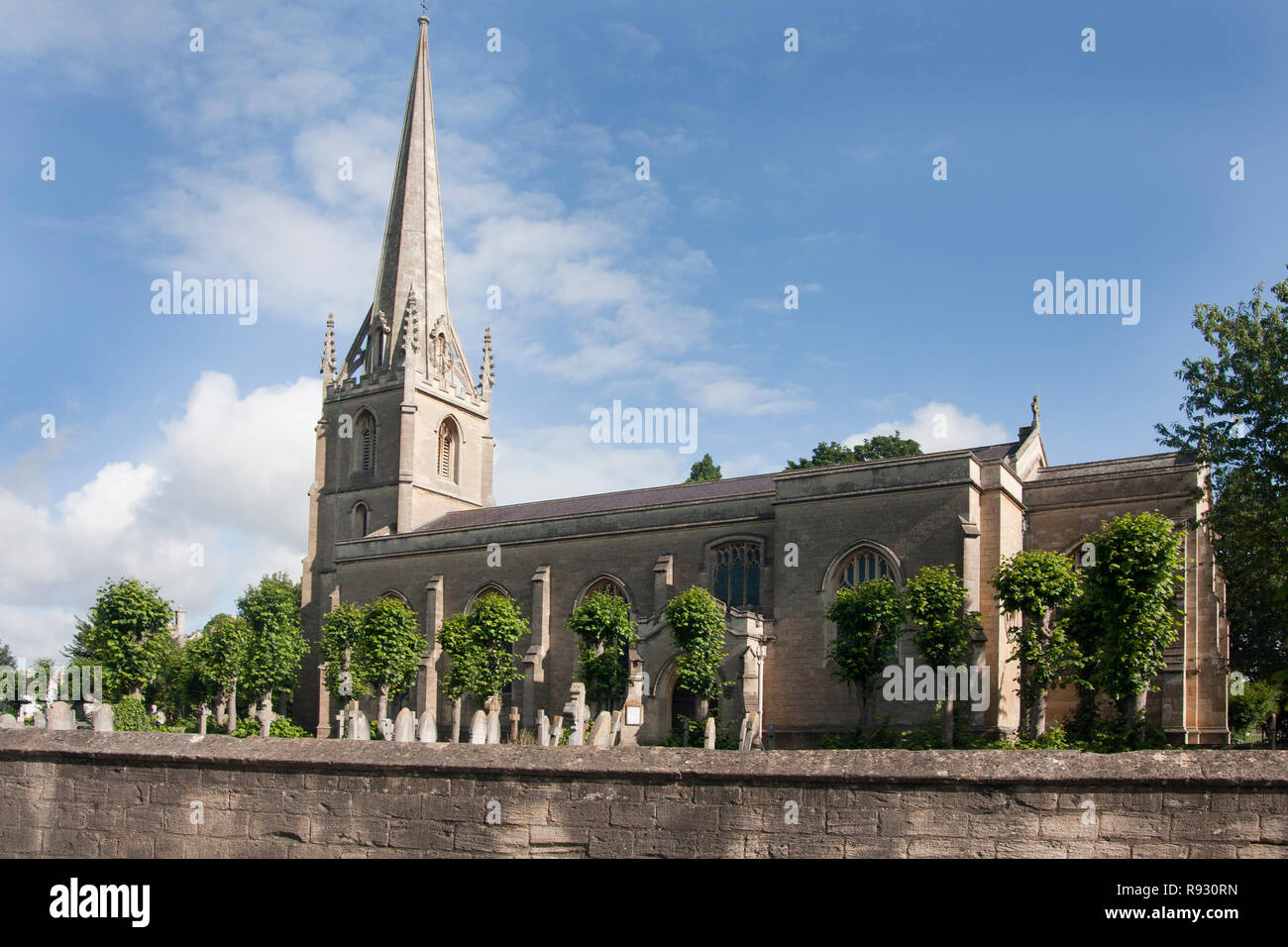 Anglican Christ Church in Conservation District of Bradford-on-Avon, Wiltshire. Bradford Deanery of the Diocese of Salisbury. - Stock Image