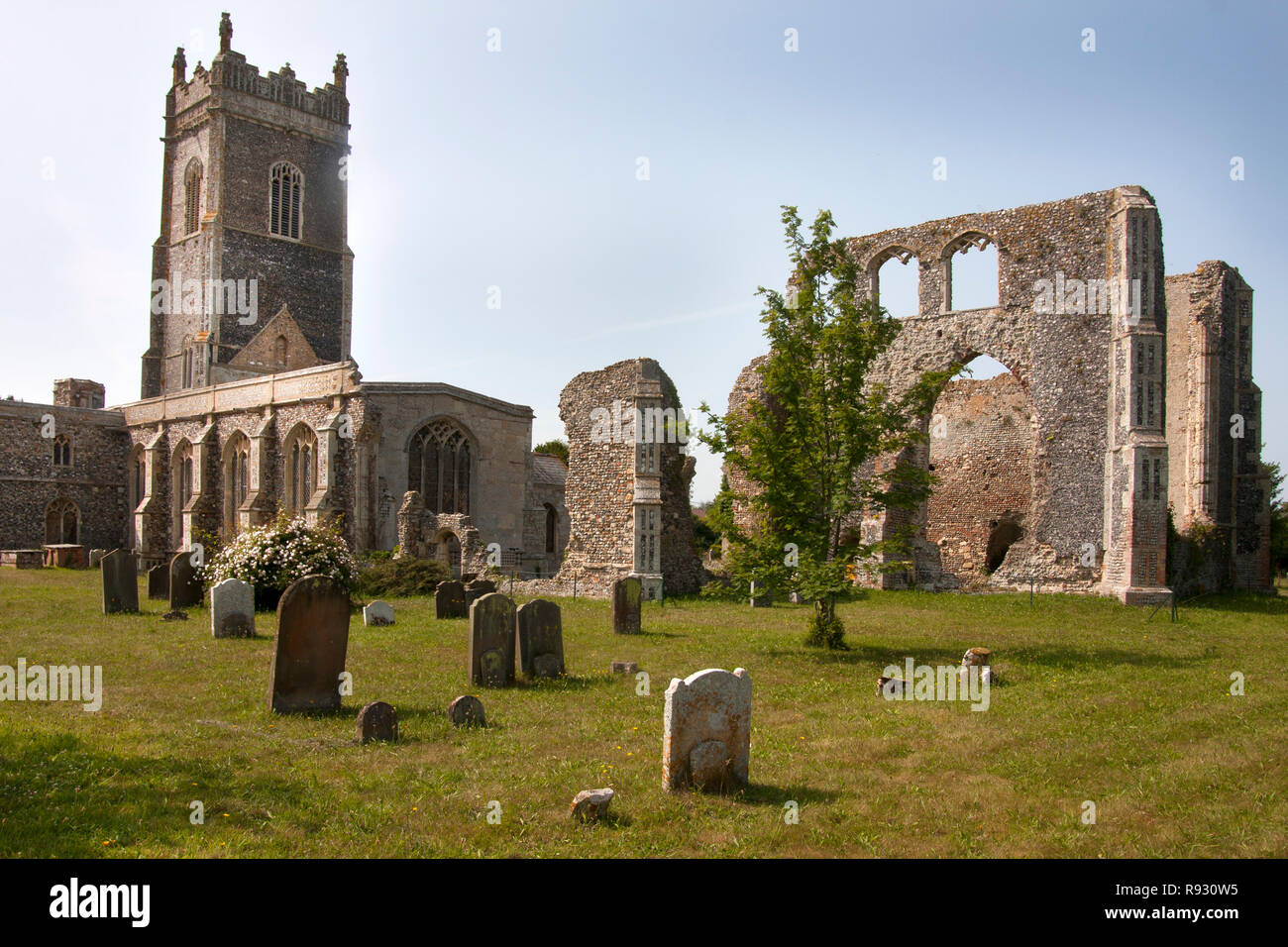 St Andrews Church and ruin, Walberswick, Southwold, Suffolk,East Anglia, England - Stock Image