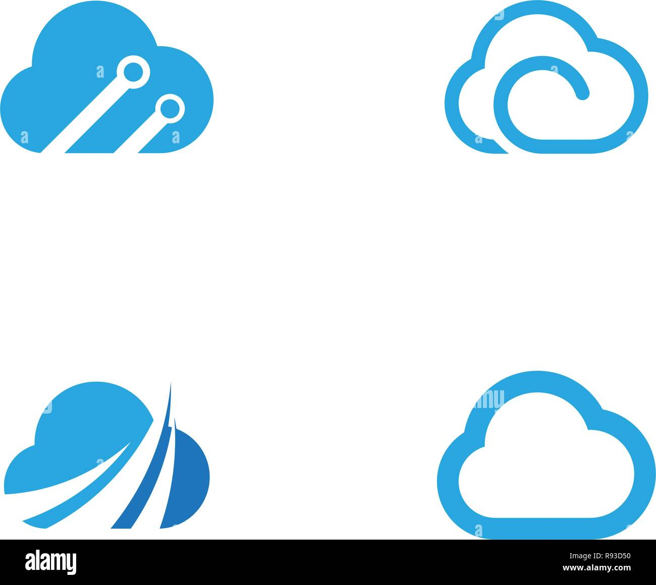 Cloud template vector icon illustration design - Stock Image