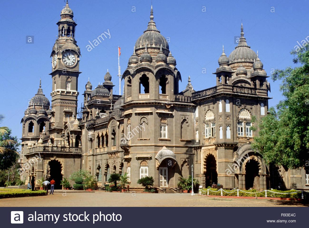 New Palace Built in 1877 to 1884, Kolhapur, Maharashtra, india Stock Photo