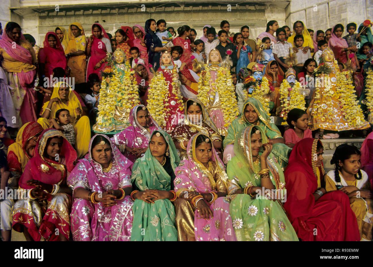 Gangaur Festival, Udaipur, Rajasthan, India Stock Photo - Alamy