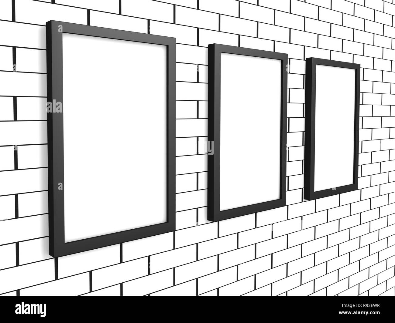 3d Wall Painting Black And White Stock Photos Images Alamy