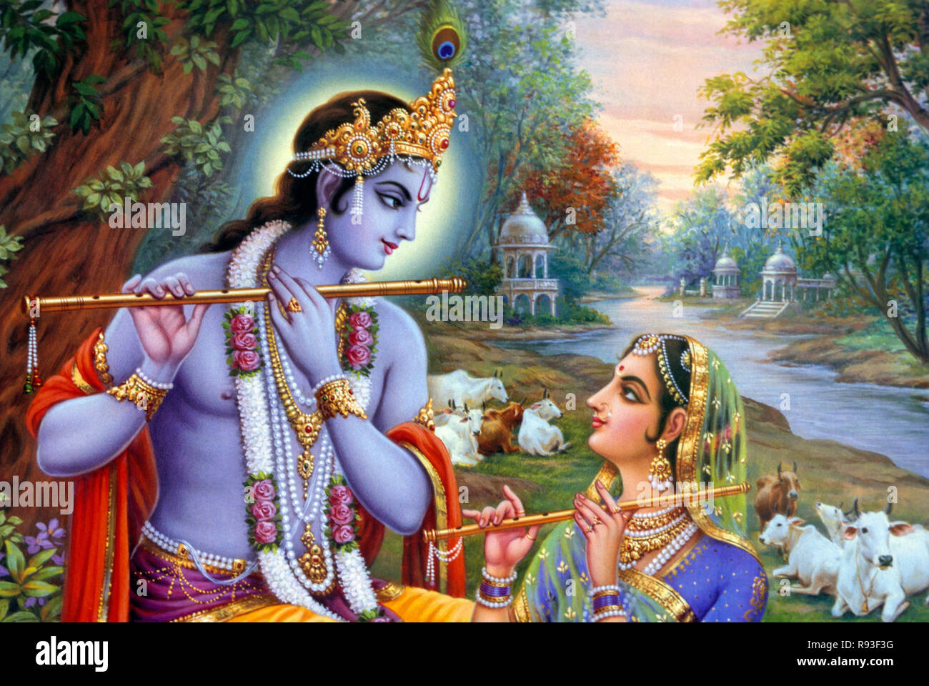 Wallpaper Radha Krishna Painting Images Hd