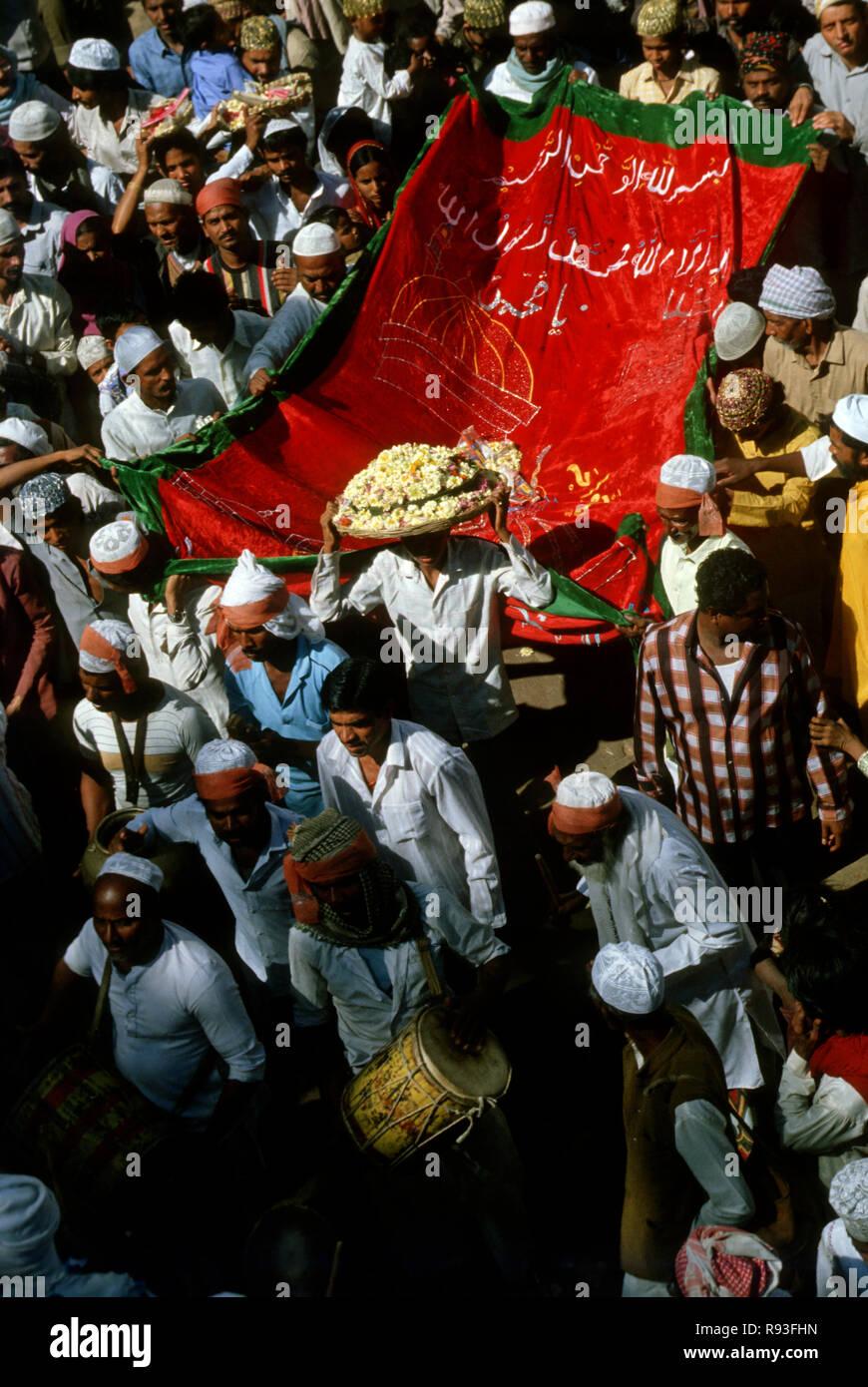 islam celebration, ajmer, rajasthan, india - Stock Image