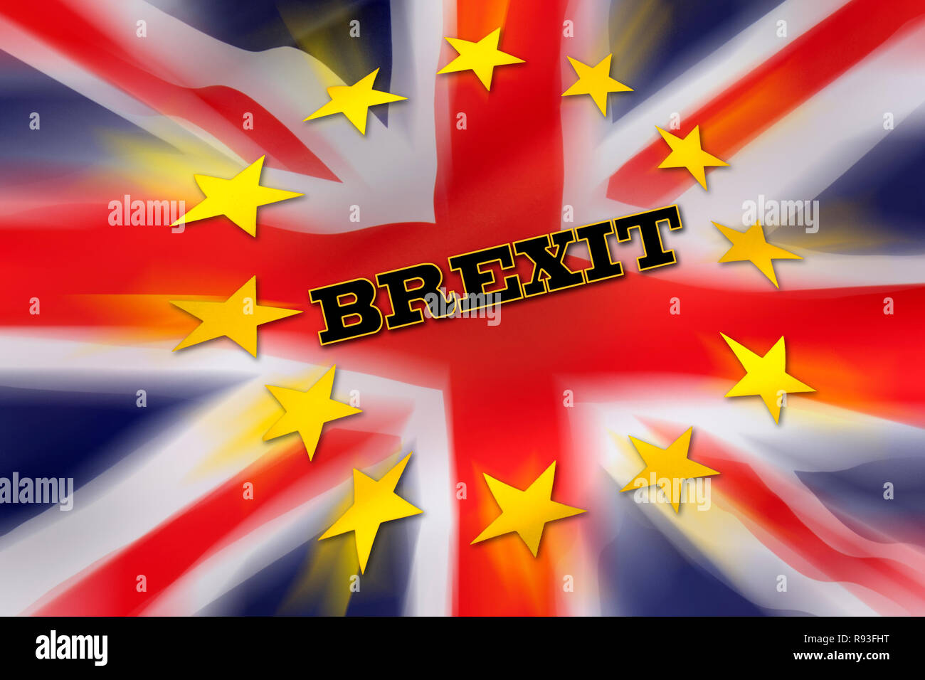BREXIT - The United Kingdom departs from the European Union. Stock Photo