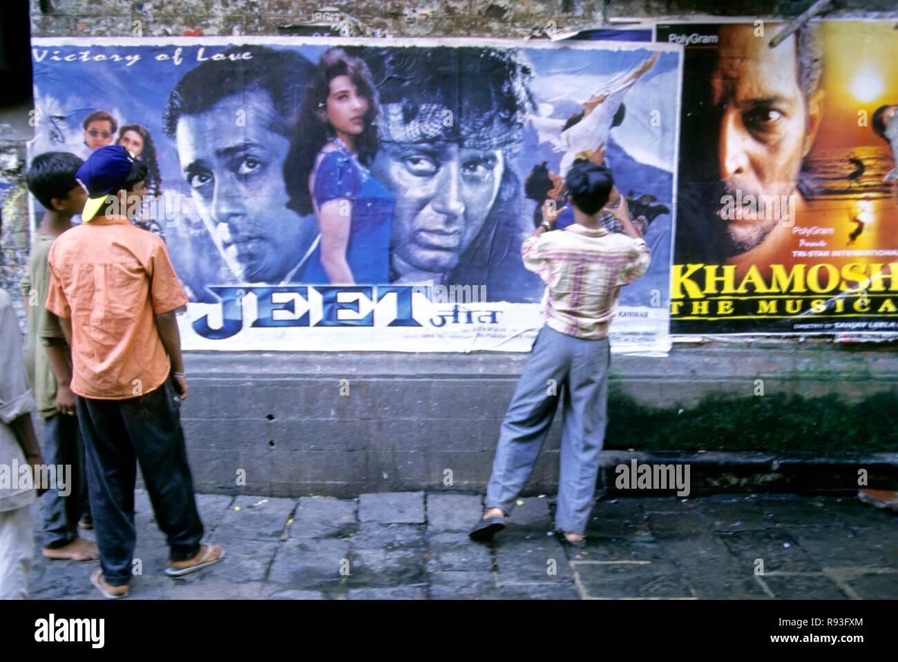 Indian Bollywood Hindi Film Poster Stock Photos & Indian Bollywood