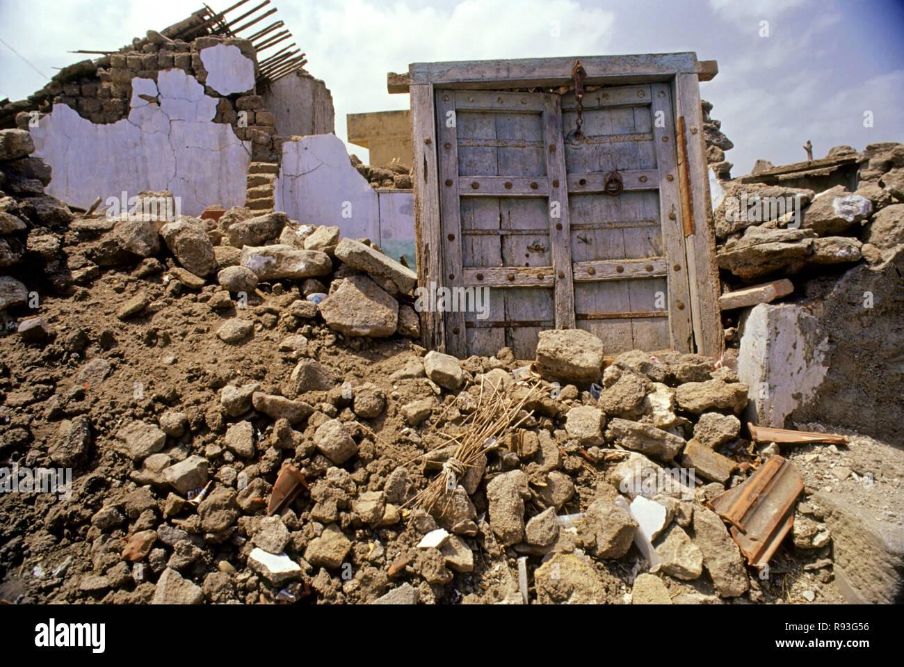 Earthquakes -26 TH Jan 2001, Bhuj, Gujarat, India - Stock Image