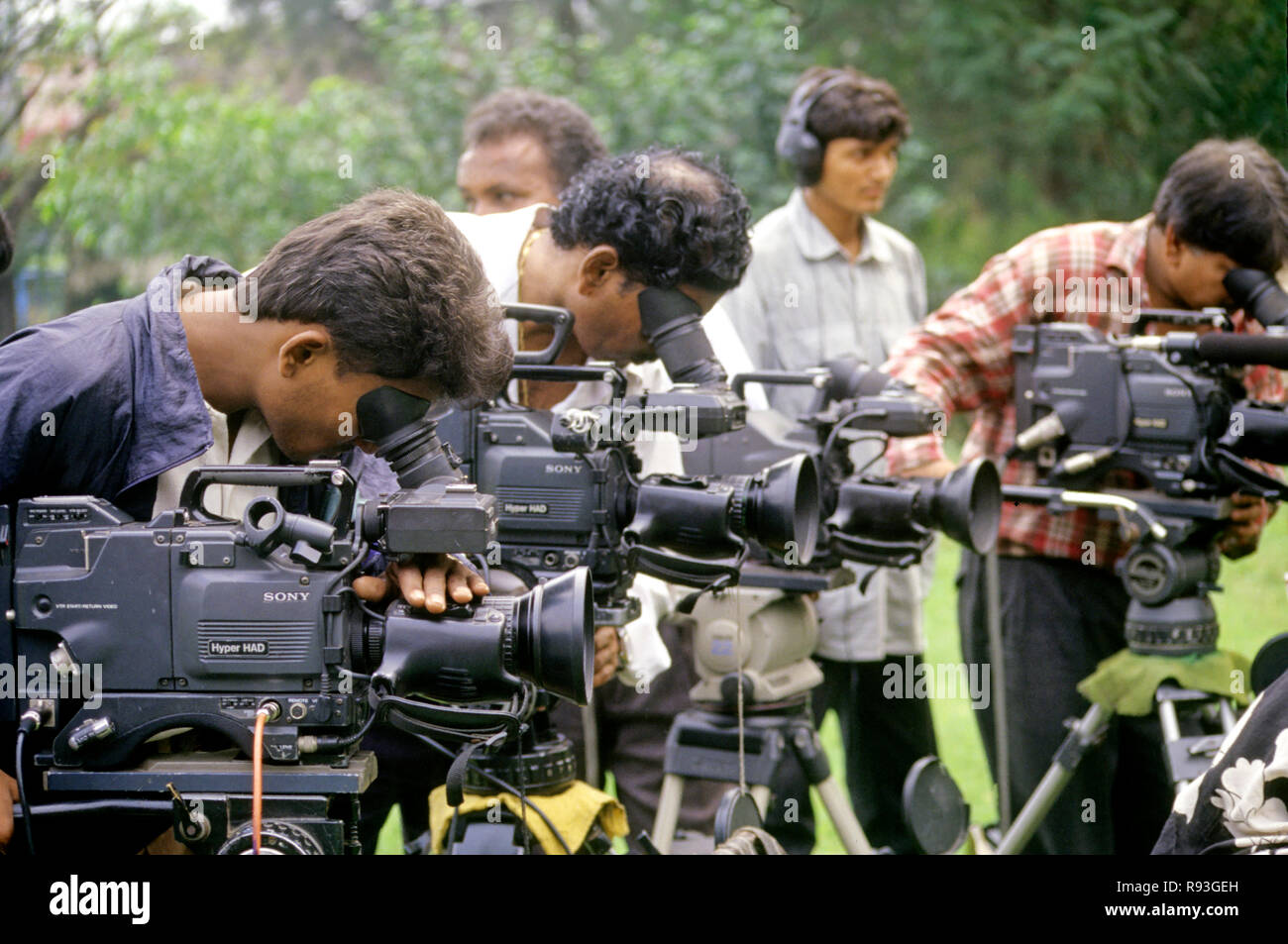 Electronic media, india - Stock Image
