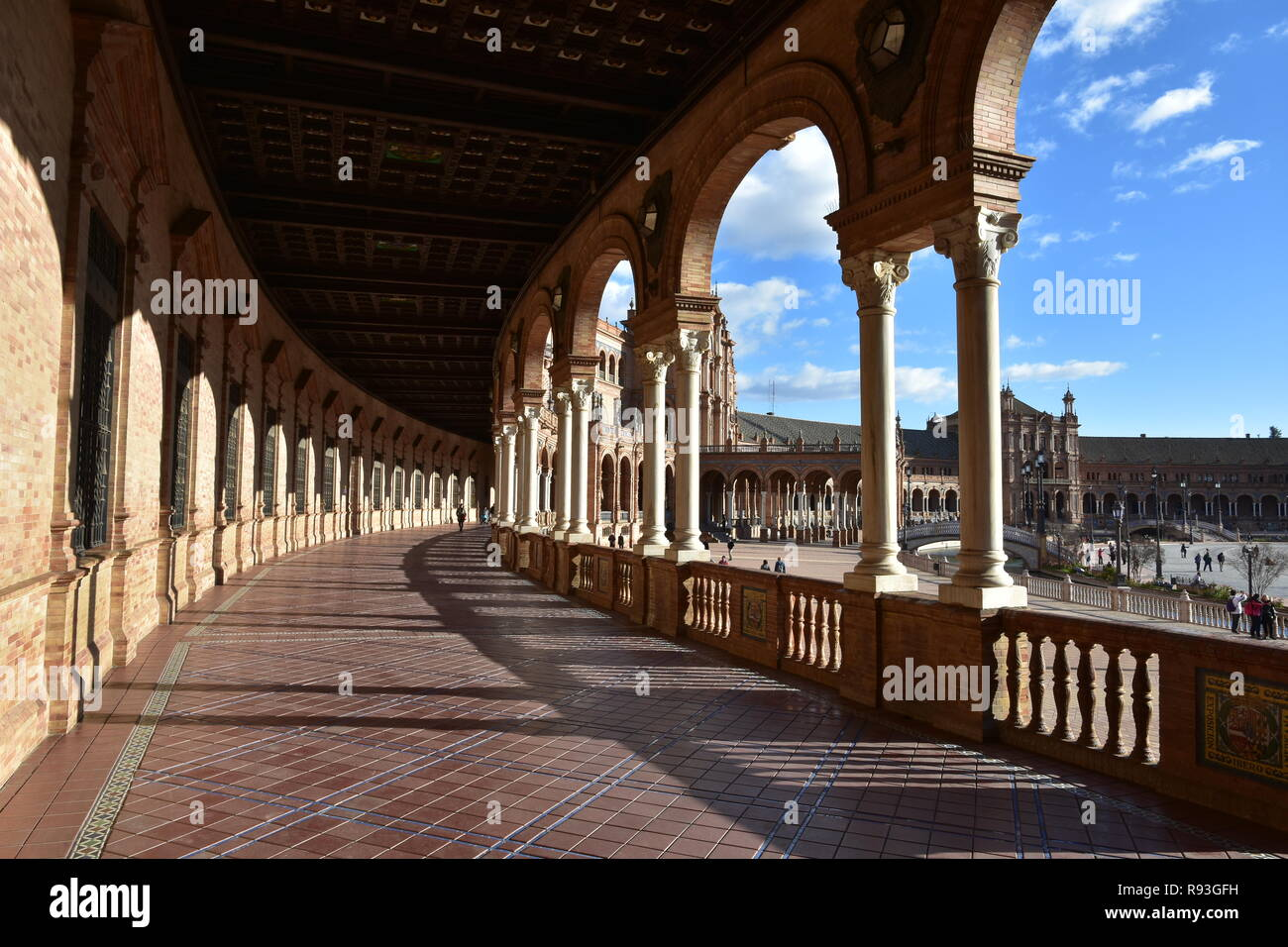 The beautiful Spanish Steps in Seville, with its amazing architecture Stock Photo