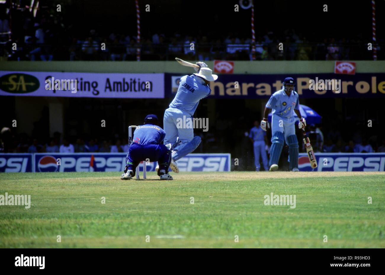 India Srilanka Cricket Match Stock Photo