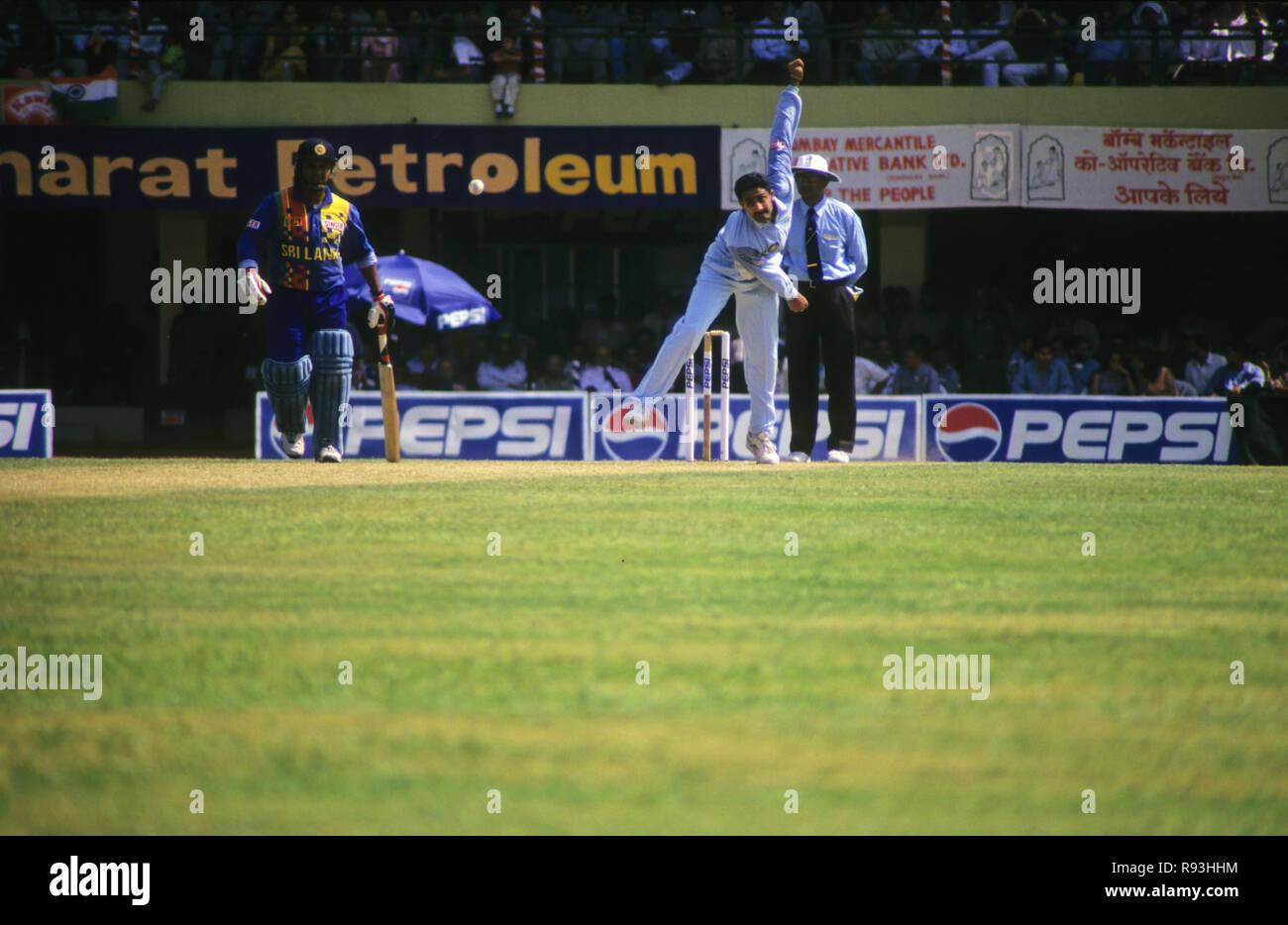 India Sri Lanka Cricket Match at Wankhede Stadium, Mumbai, Maharashtra, India - Stock Image