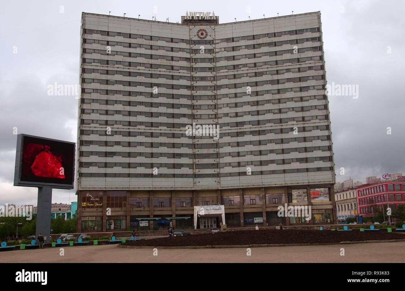 Arctic Hotel, Murmansk, Kola Peninsula, Arctic, Russia, Murmansk, Russia - Stock Image