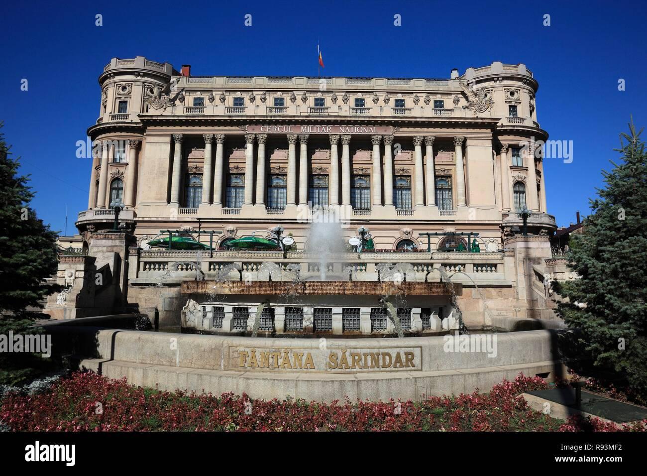 Cercul Militar National, former Officer's Mess, Bukarest, Bucharest, București, Romania - Stock Image