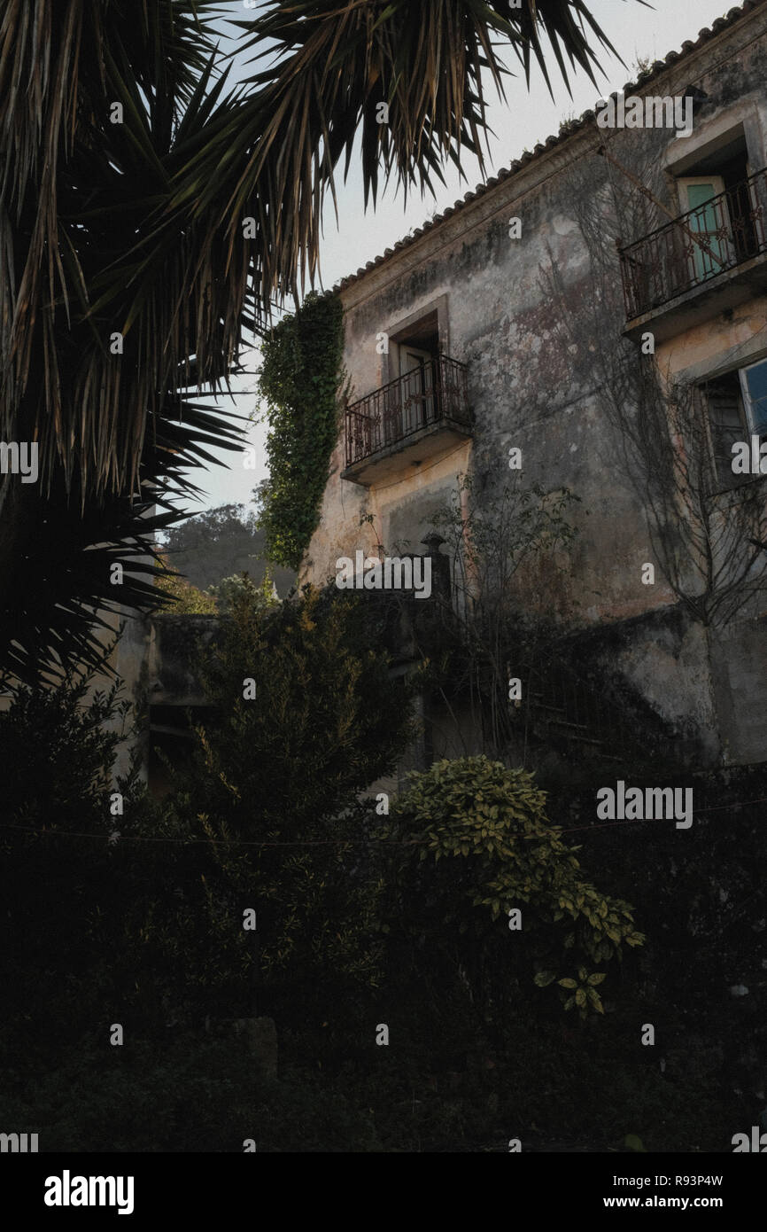 Abandoned home in Sintra, Portugal - Stock Image