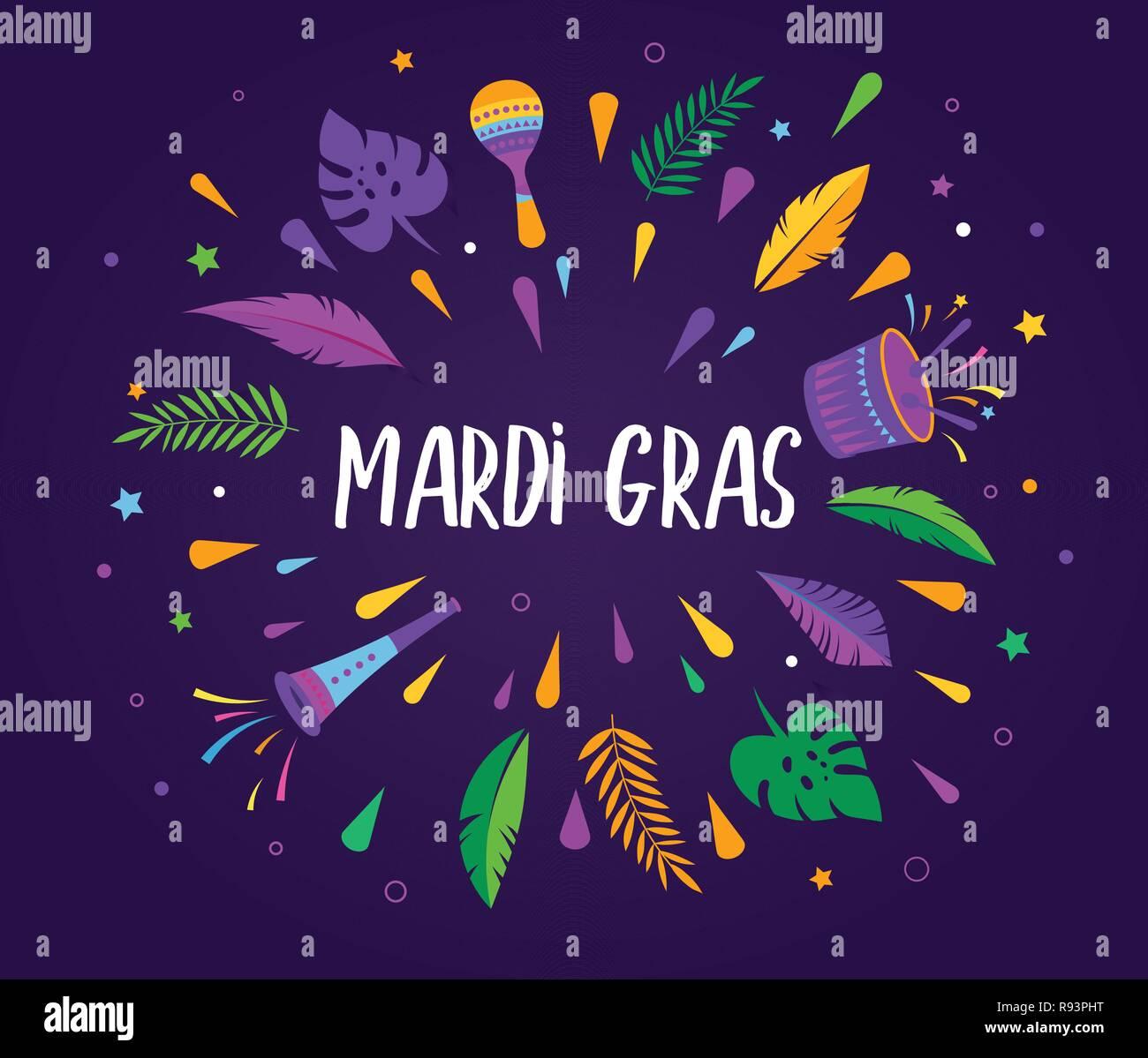 Mardi Gras Template from c8.alamy.com