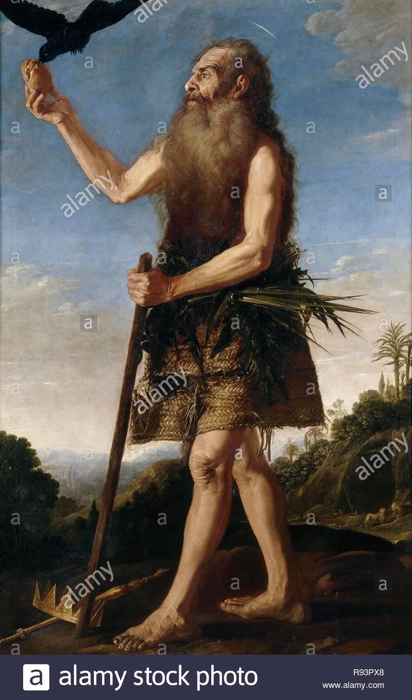 Francisco Collantes / 'Saint Onuphrius', ca.  1645, Spanish School, Oil on canvas, 170 cm x 108 cm, P03027. Museum: MUSEO DEL PRADO. - Stock Image