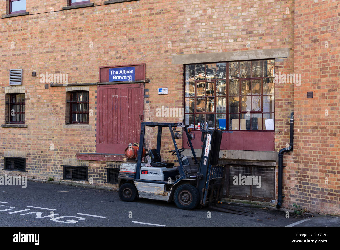 The Albion Brewery, a small local brewery based on the site of the old Phipps brewery; Northampton, UK Stock Photo