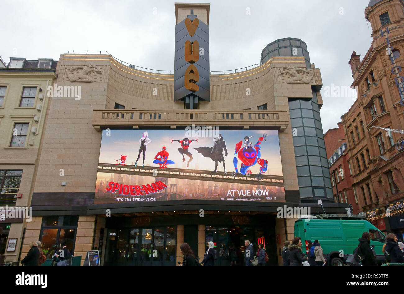 'Spiderman - Into The Spider-verse' showing at Vue Cinema in Leicester Square, London - Stock Image
