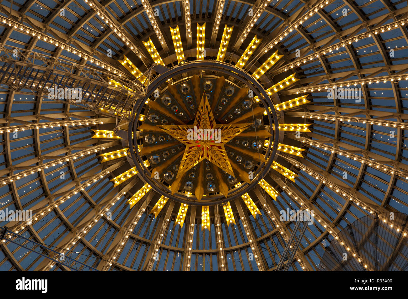 Moscow, Russia - November 28, 2018: Glass dome of the Space Cosmos pavilion at VDNH - Exhibition of Achievements of National Economy. - Stock Image