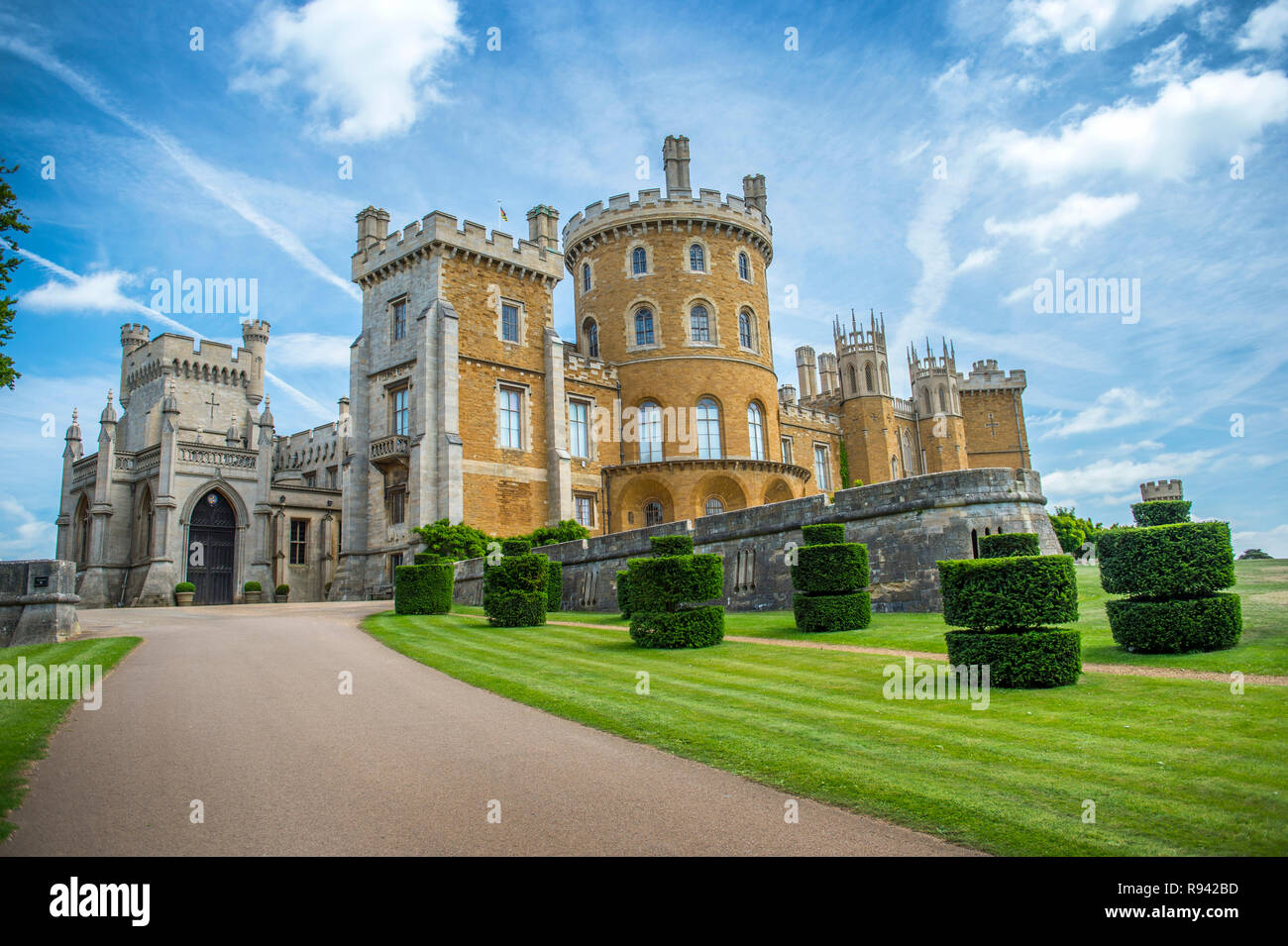 Belvoir Castle in English county of Leicestershire - Stock Image