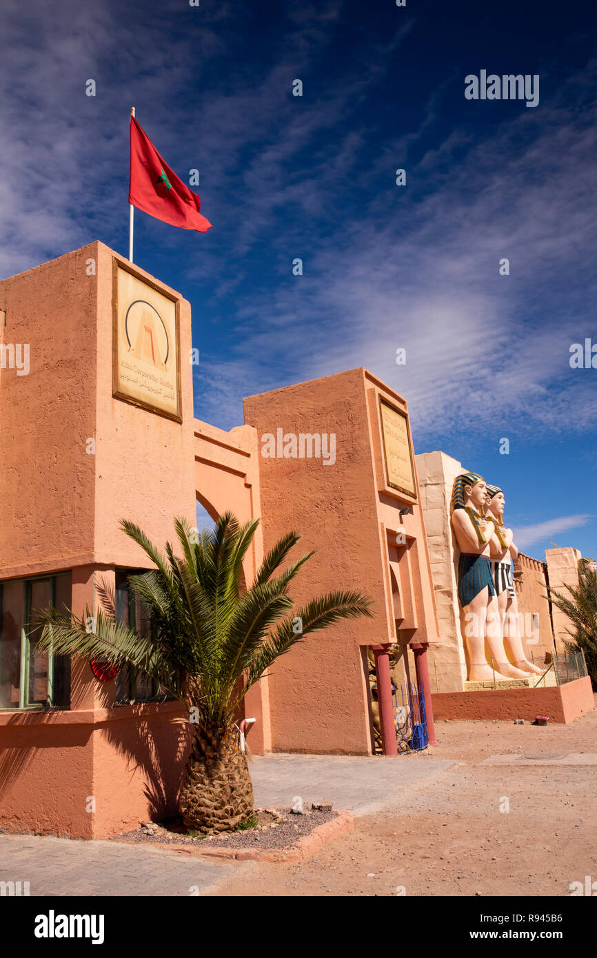 morocco ouarzazate atlas corporation film studio oscar hotel and studios cinema egyptian themed entrance R945B6