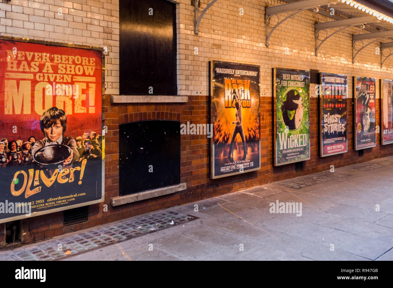 west end show advertising posters Stock Photo