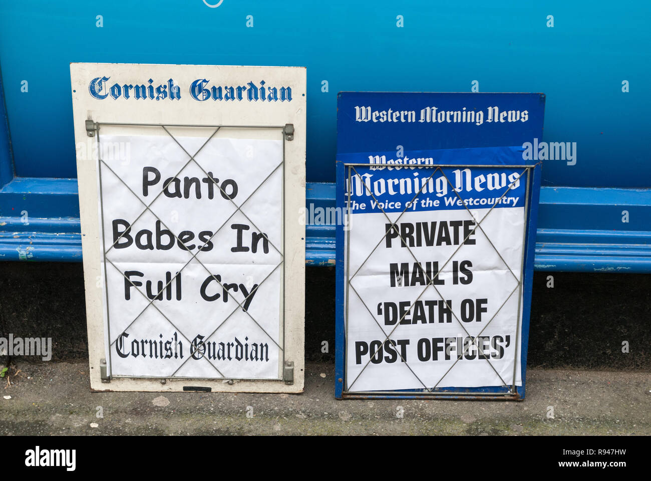 newspaper boards - Stock Image