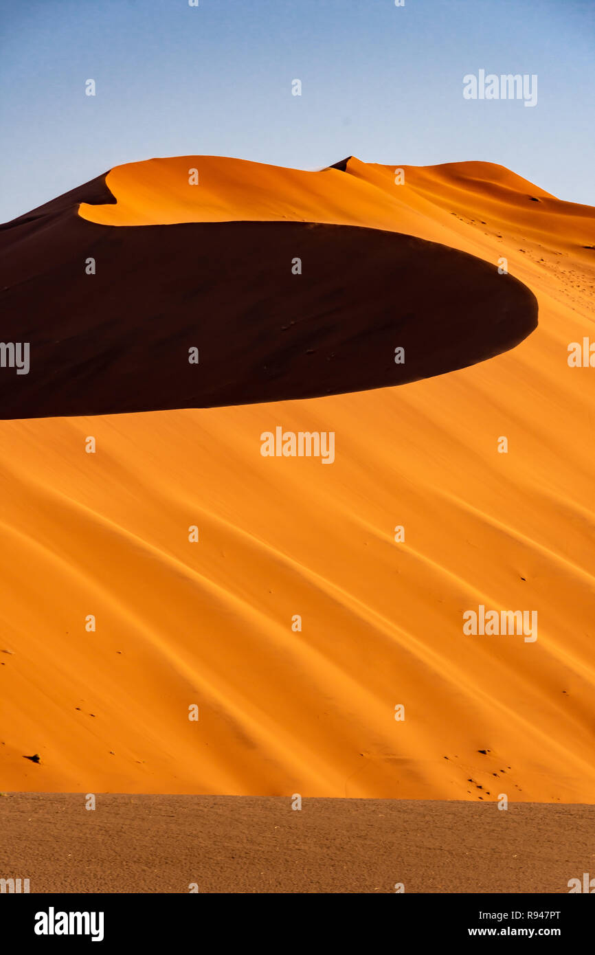 Namib dunes in Sossusvlei in the heart of Namibia, Africa - Stock Image