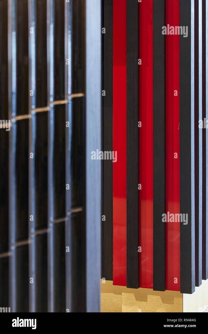 Wall cladding. Royal China Club, London, United Kingdom. Architect: Stiff + Trevillion Architects, 2018. - Stock Image