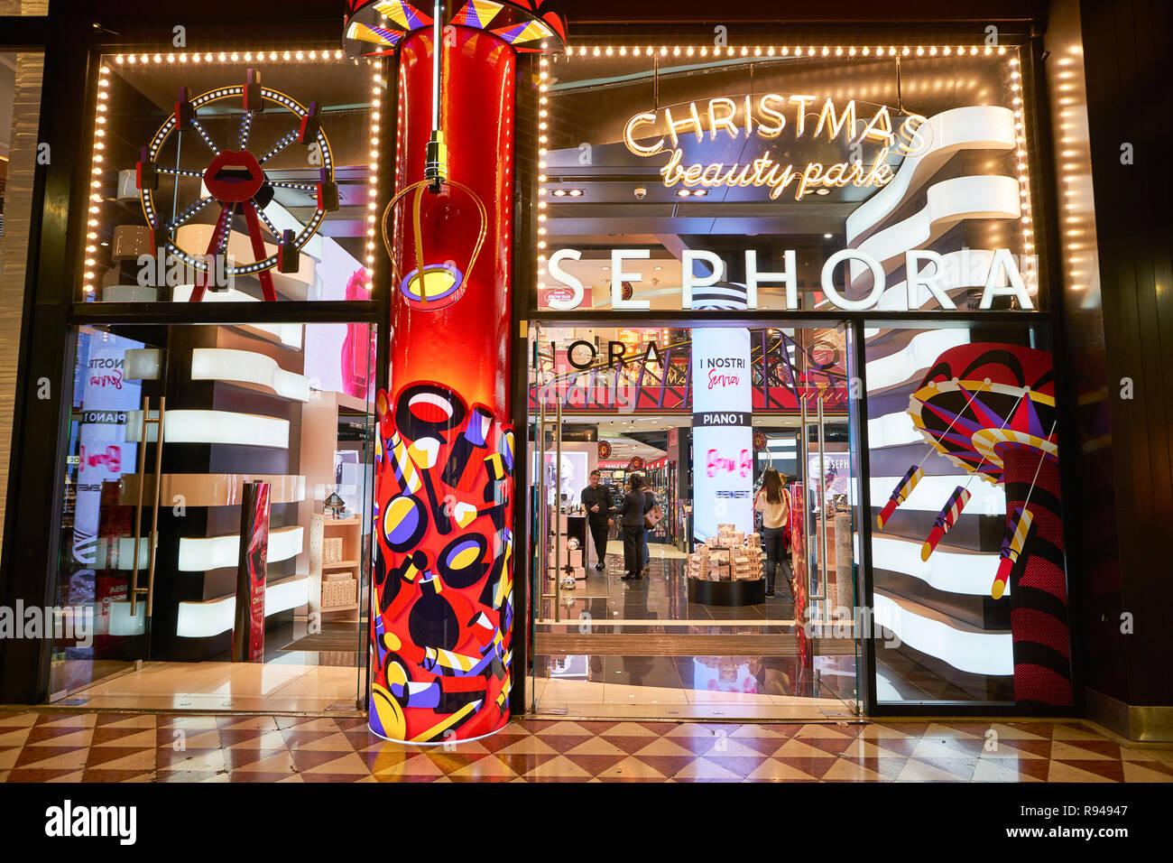 MILAN, ITALY - CIRCA NOVEMBER, 2017: Sephora store in Milan