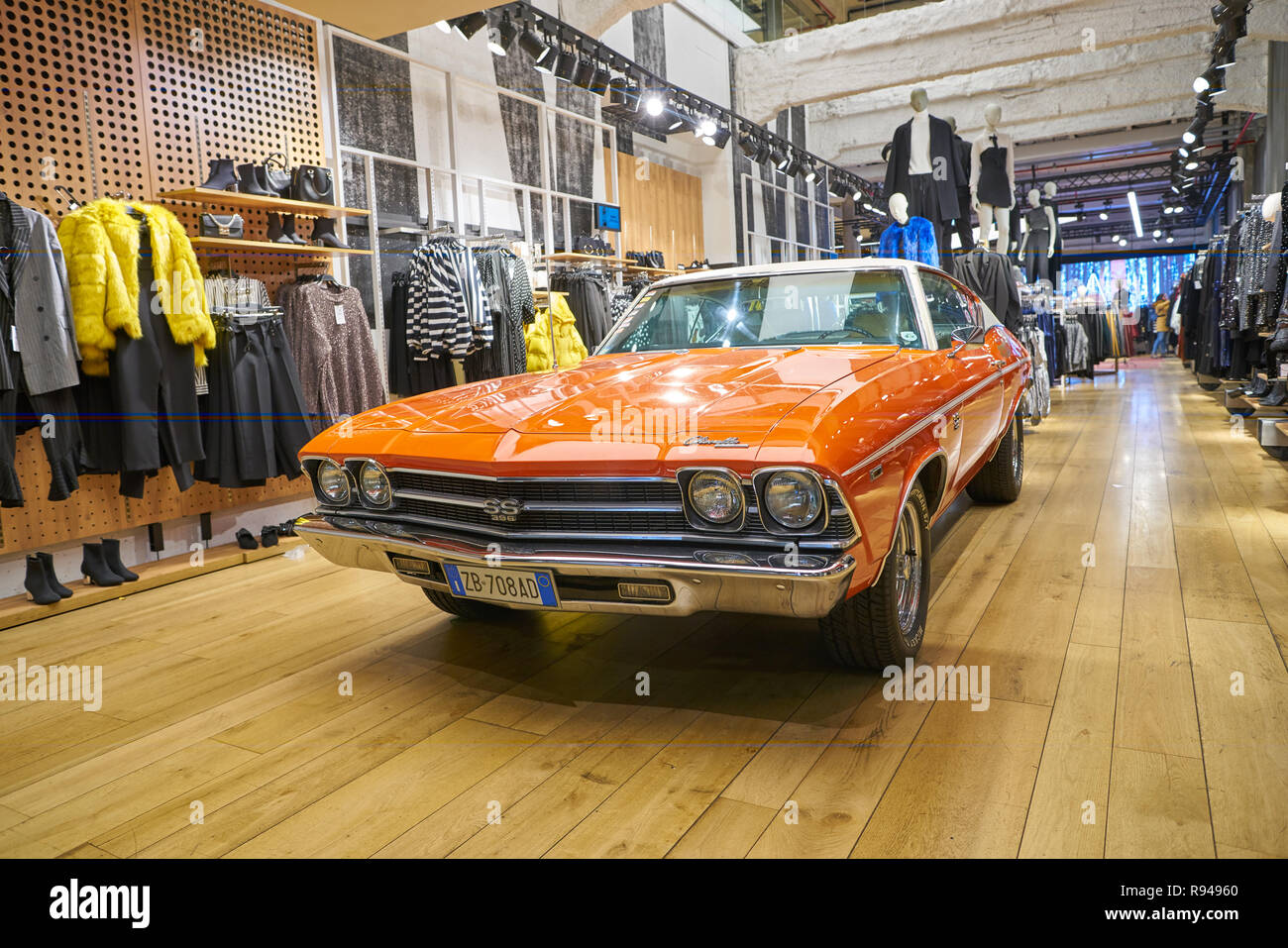 Milan Italy Circa November 2017 Chevrolet Chevelle At Bershka