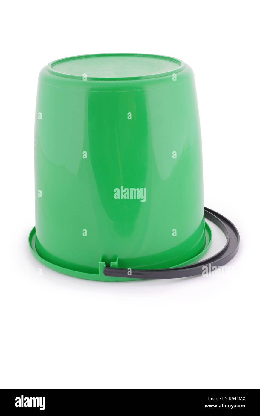 807b4b942fa41c Green plastic bucket isolated on a white background Stock Photo ...