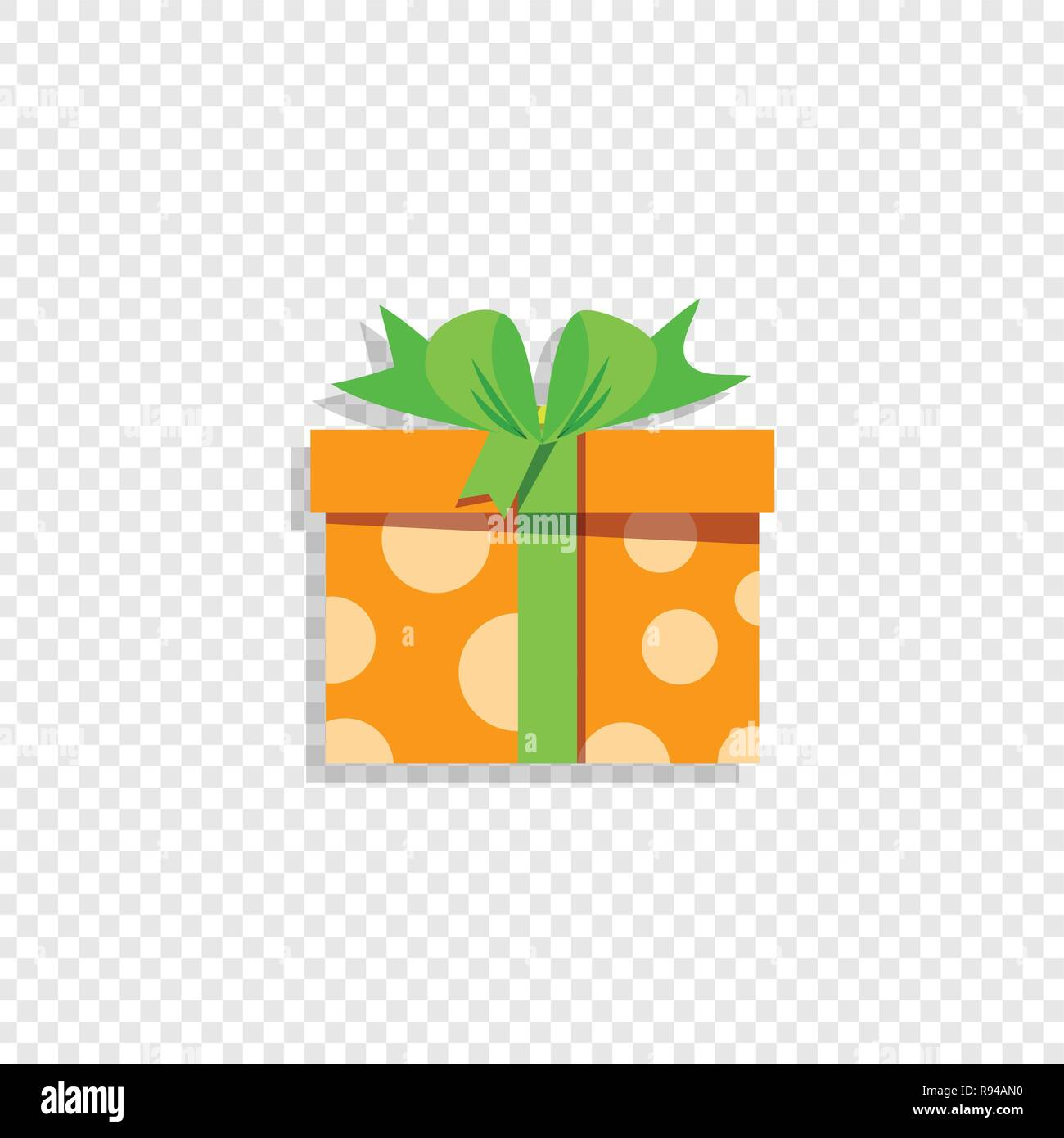 Cute Orange Gift Box Wrapped With Festive Bow Isolated On Transparent Background Present Icon Logo Congratulations On Holidays Celebration Annivers Stock Vector Image Art Alamy