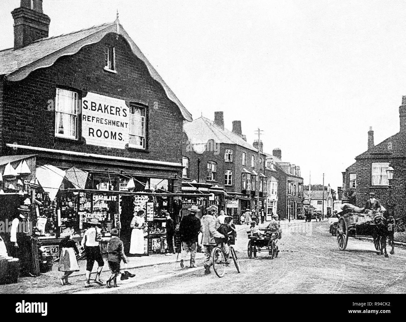 High Street, Sutton on Sea - Stock Image