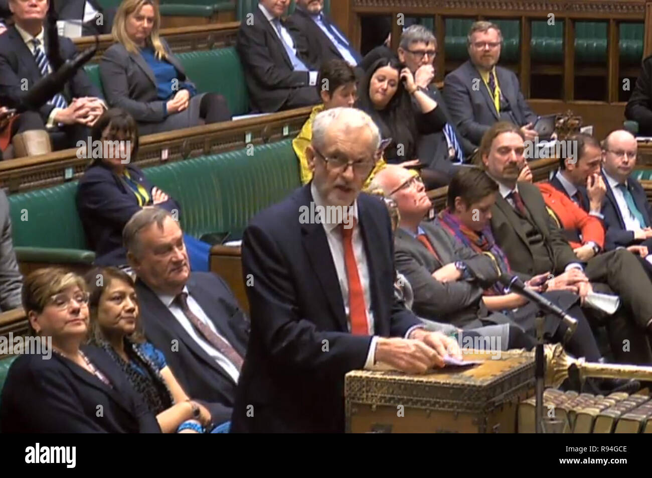 Labour Leader Jeremy Corbyn Makes A Statement In The House Of