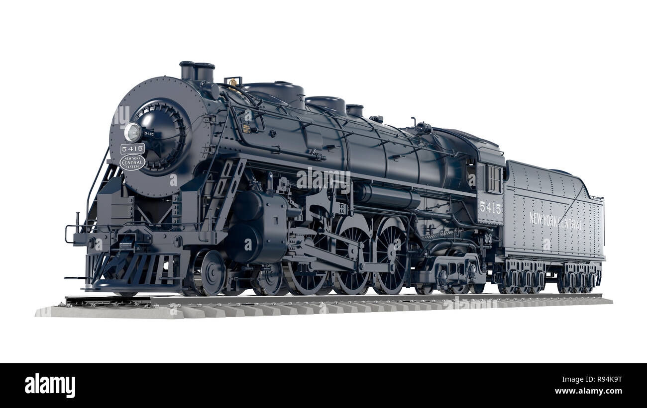 History Restored - New York Central Railroad - Stock Image