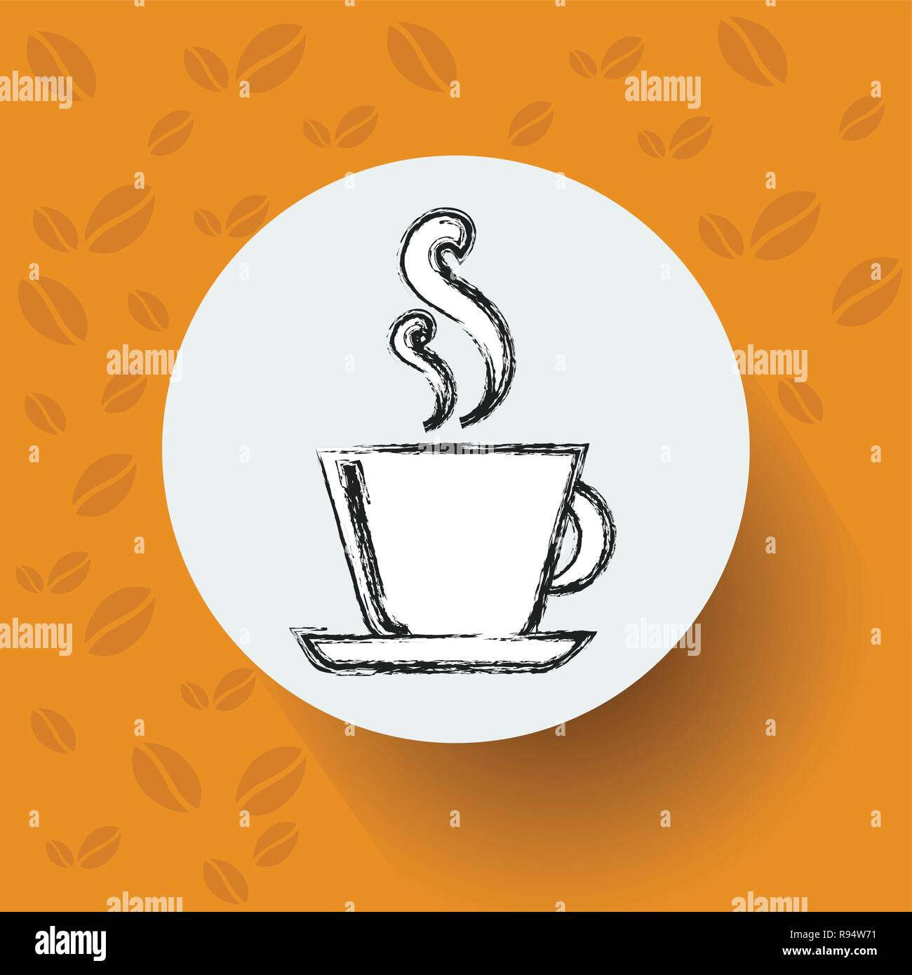 Hand Drawn Sketch Coffee Cup Vector Illustration - Stock Image