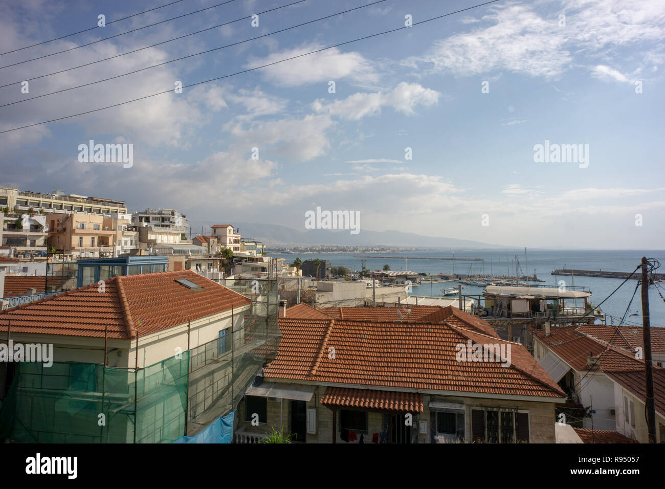 I stayed at Piraeus while in Athens. It was quiet & relaxing during my winter stay & all the liveliness of downtown was only a few metro stops away. - Stock Image