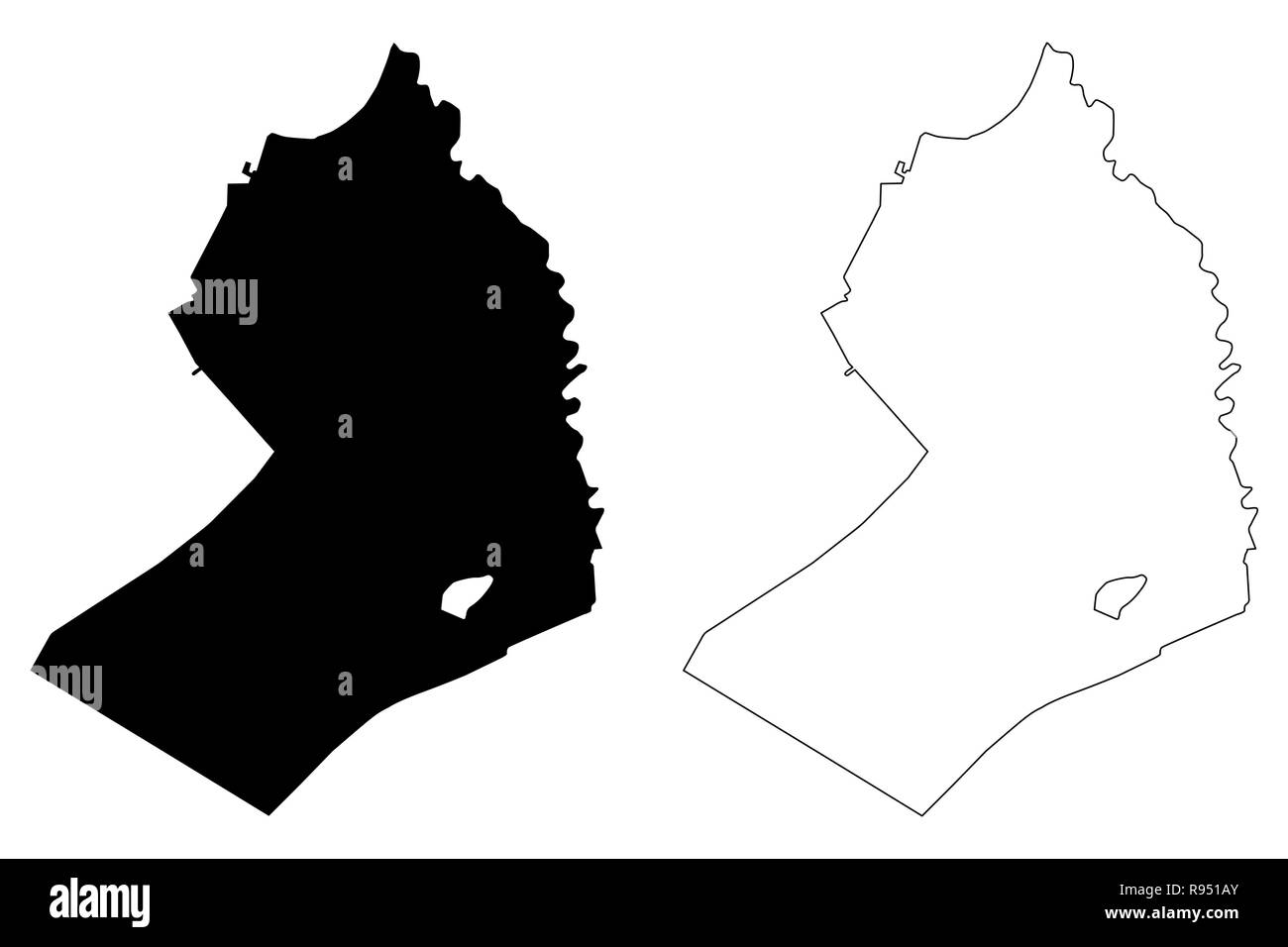 Beheira Governorate (Governorates of Egypt, Arab Republic of Egypt) map vector illustration, scribble sketch Beheira map - Stock Image
