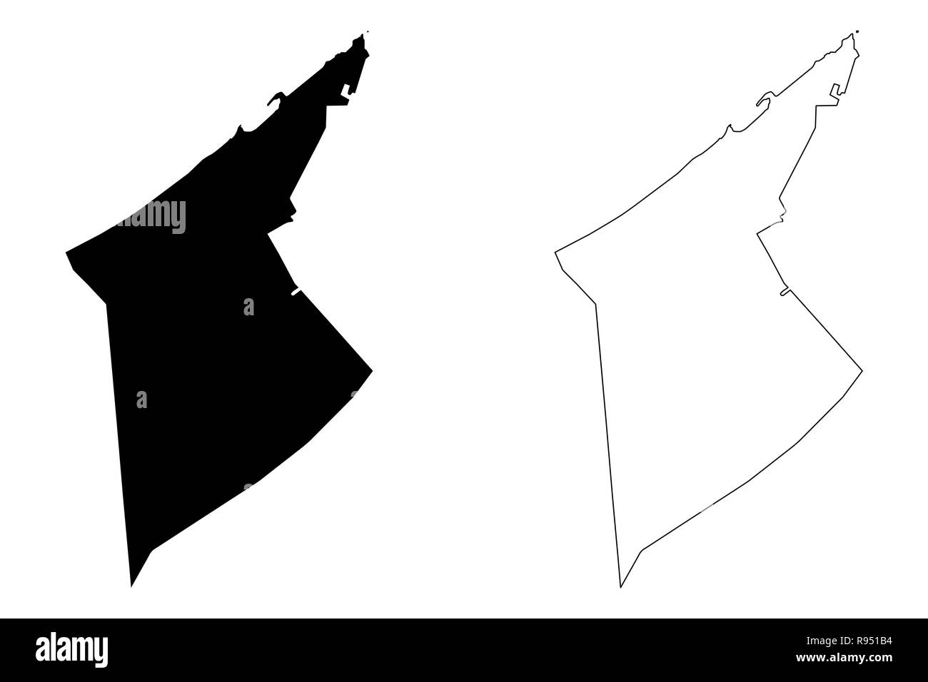 Alexandria Governorate (Governorates of Egypt, Arab Republic of Egypt) map vector illustration, scribble sketch Alexandria map - Stock Image